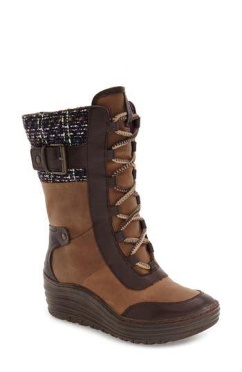 Bionica Garland Waterproof Wedge Boot- Brown