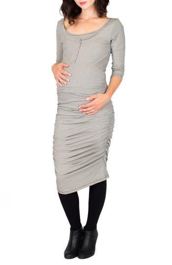 Nom Henley Maternity Dress, Grey