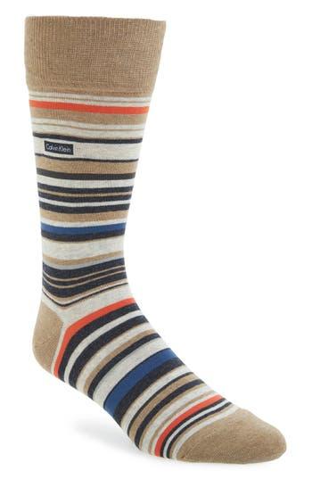 Men's Calvin Klein Multistripe Emblem Socks