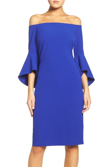 Chelsea28 Off The Shoulder Dress, Blue
