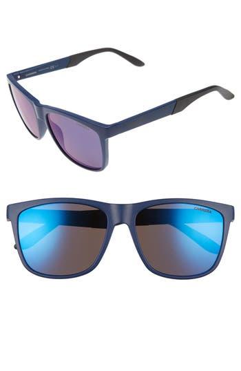 Men's Carrera Eyewear 8022/s 56Mm Polarized Sunglasses - Blue