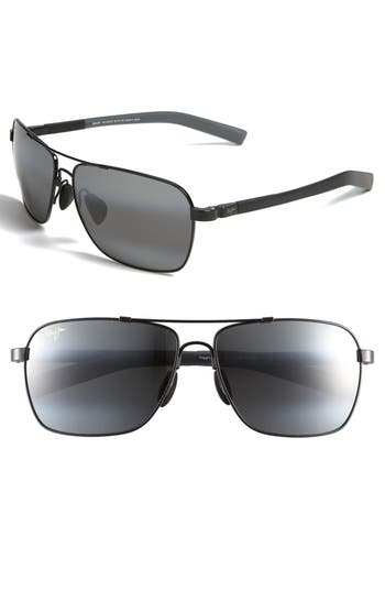 Men's Maui Jim 'Mauiflex - Freight Trains' Polarizedplus 62Mm Sunglasses - Gunmetal/ Black/ Neutral Grey