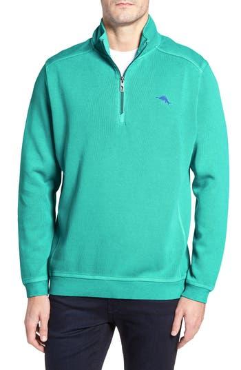 Men's Big & Tall Tommy Bahama Nassau Quarter Zip Pullover, Size 2XB - Green