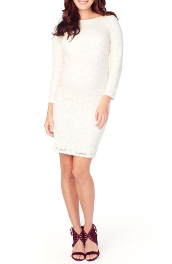 Ingrid & Isabel Lace Maternity Dress, Ivory