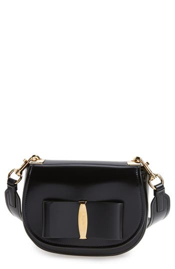 Salvatore Ferragamo Anna Vara Leather Crossbody Bag -
