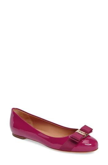 Salvatore Ferragamo Varina Leather Flat, Pink