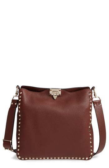 Valentino Garavani Vitello Rockstud Leather Hobo - at NORDSTROM.com