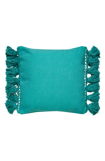 Kate Spade New York Tassel Accent Pillow, Size One Size - Blue