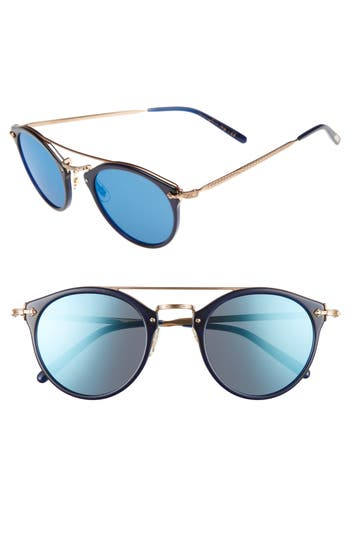 Oliver Peoples Remick 50Mm Brow Bar Sunglasses - Blue