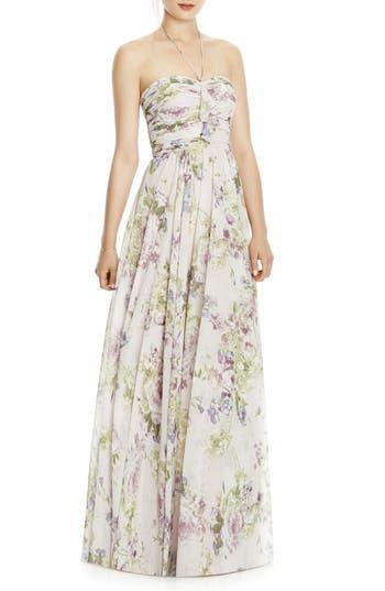 Jy Jenny Yoo Chiffon A-Line Gown, Purple