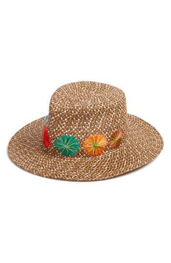 Women's Eric Javits Zanzibar Packable Squishee Hat - Brown