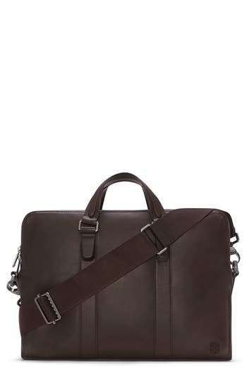 Vince Camuto Dopia Leather Briefcase - Brown