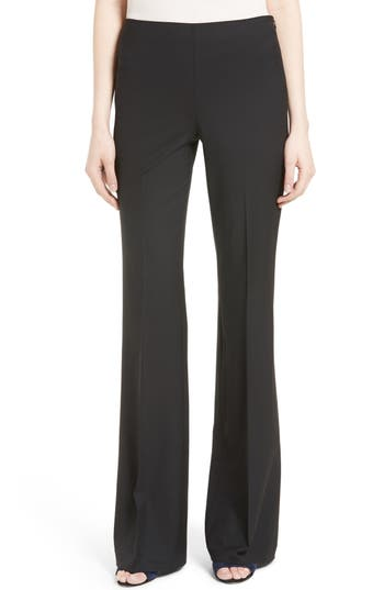 Theory Demitria Stretch Wool Flare Leg Pants