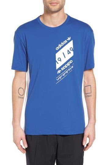 Adidas Originals Art Of Mesh Graphic T-Shirt, Blue