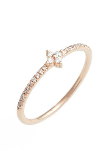 Women's Bony Levy Diamond Flower Stack Ring (Nordstrom Exclusive)