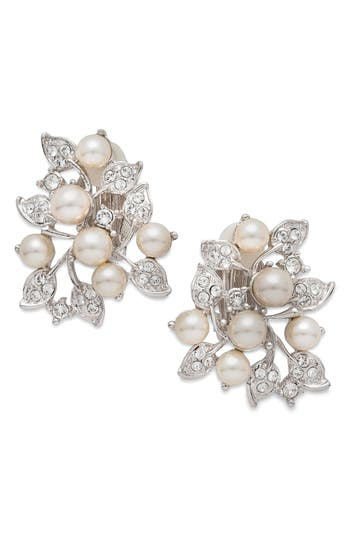 Women's Nina Imitation Pearl & Crystal Clip Earrings
