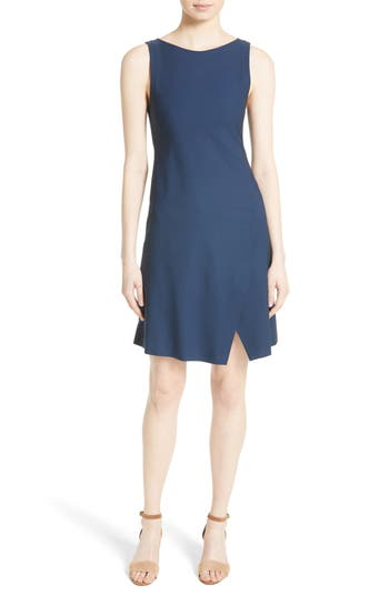 Theory Risbana New Stretch Wool Dress, Blue/green