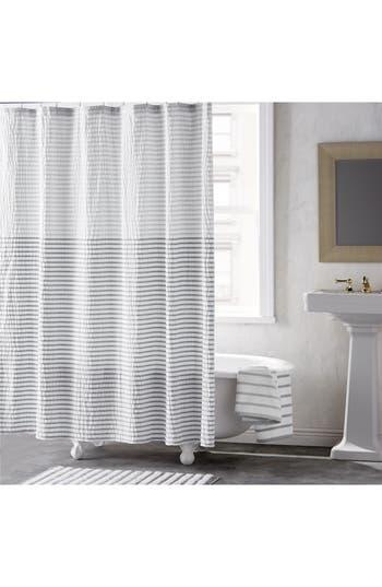 Dkny Parson Stripe Shower Curtain, Size One Size - Metallic