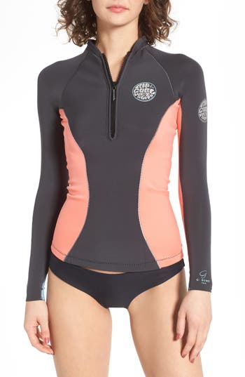 Rip Curl G-Bomb Wetsuit Jacket, Coral