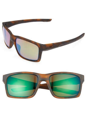 Oakley Mainlink 57Mm Polarized Sunglasses - Brown Tort