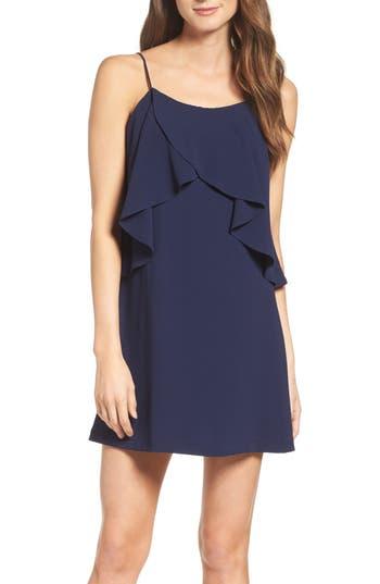 Women's Mary & Mabel Ruffle Slipdress, Size Medium - Blue