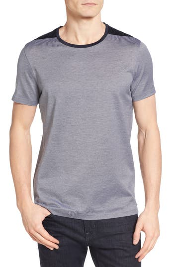 Boss Tessler Stripe Mercerized Cotton T-Shirt, Blue