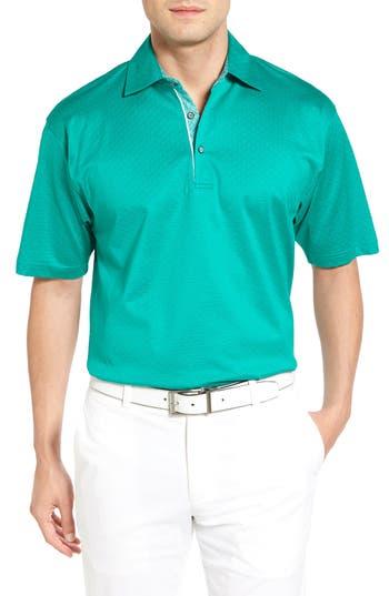 Men's Bobby Jones Diamond Jacquard Golf Polo, Size Small - Green