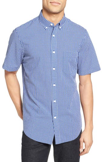 Men's Nordstrom Men's Shop Regular Fit Seersucker Check Sport Shirt