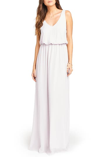 Show Me Your Mumu Kendall Soft V-Back A-Line Gown, Purple