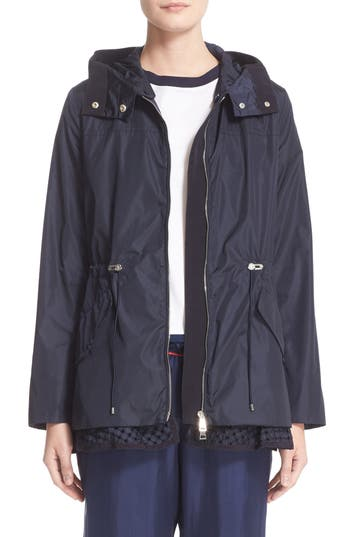 Women's Moncler Lotus Water Resistant Peplum Raincoat