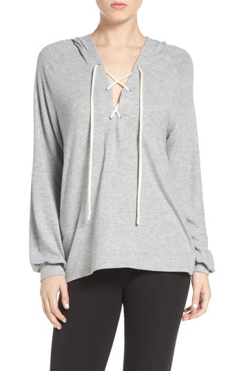 Women's Michael Lauren Carson Lace-Up Lounge Hoodie at NORDSTROM.com