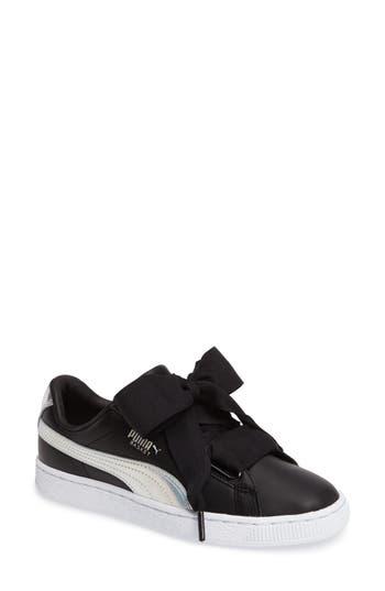 Puma Basket Heart Sneaker, Black