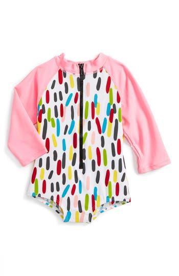 Toddler Girl's Sookibaby Confetti One-Piece Rashguard Swimsuit