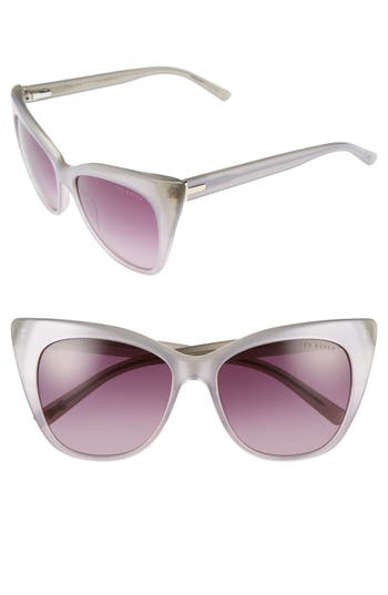 Women's Ted Baker London 54Mm Cat Eye Sunglasses - Grey