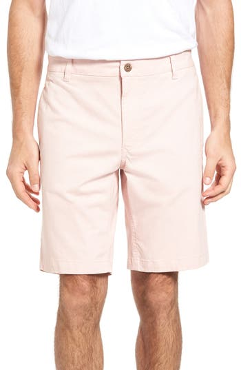 Tailor Vintage Stretch Twill Walking Shorts, Pink