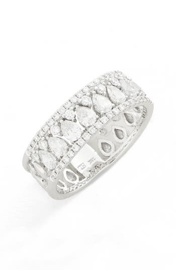 Women's Bony Levy Liora Diamond Mixed Cut Band Ring (Nordstrom Exclusive)