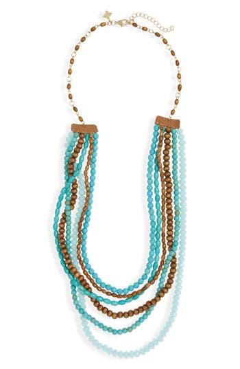 Women's Panacea Wood & Stone Beaded Multistrand Necklace