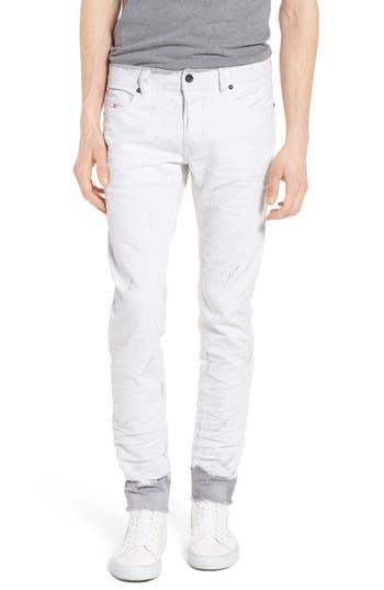 Diesel Sleenker Skinny Fit Cutoff Jeans