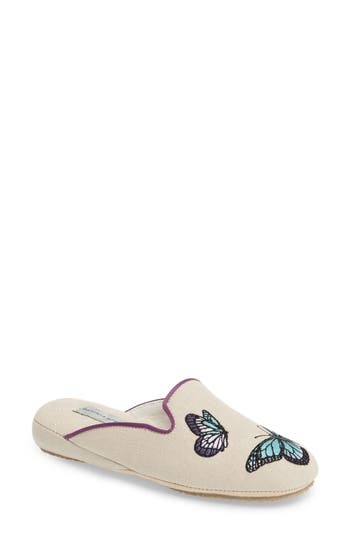 Patricia Green Embroidered Butterfly Mule