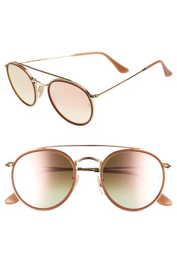 Women's Ray-Ban 51Mm Sunglasses - Gold/ Pink