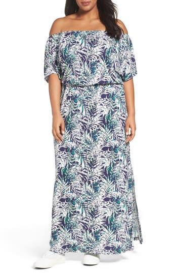 Plus Size Sejour Off The Shoulder Maxi Dress
