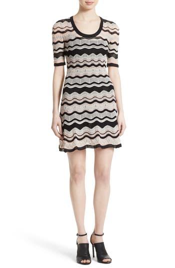 M Missoni Ripple Ribbon Fit & Flare Dress