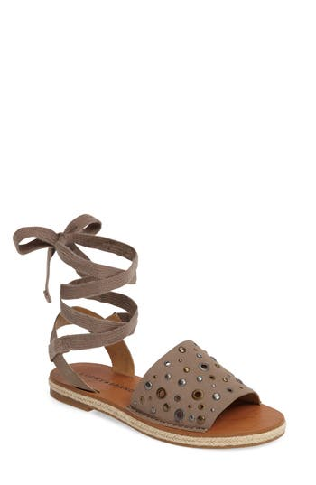 Lucky Brand Daytah Ankle Tie Sandal, Brown