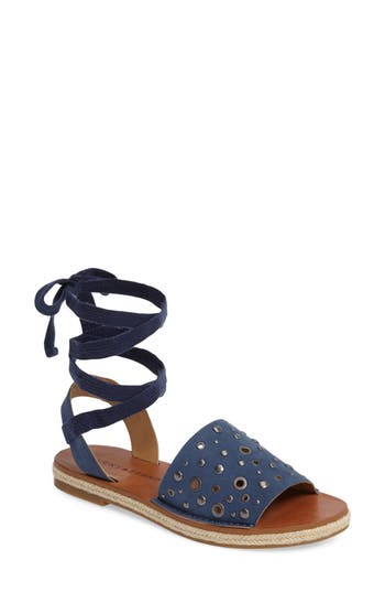 Lucky Brand Daytah Ankle Tie Sandal, Blue