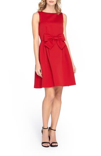 Petite Tahari Bow Fit & Flare Dress