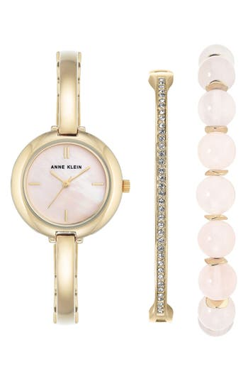 Women's Anne Klein Bracelet Watch & Bangle Set