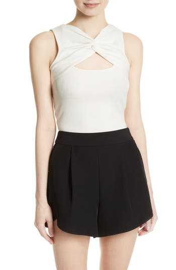 Women's Milly Knit Tank, Size Small - White