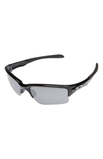 Oakley Quarter Jacket Prizm(TM) 61Mm Semi-Rimless Sunglasses - Black/ Black Iridium