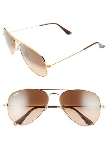 Ray-Ban Standard Original 5m Aviator Sunglasses - Pink/ Brown