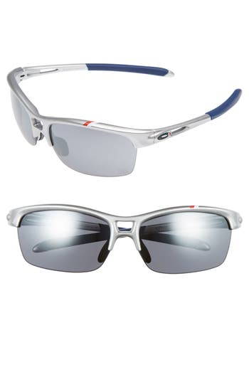 Oakley Rpm 62Mm Square Semi Rimless Sunglasses - Silver/ Black Iridium